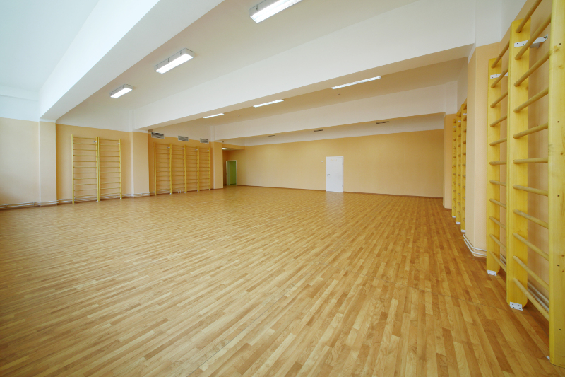 Gym hardwood flooring